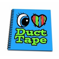3dRose Bright Eye Heart I Love Duct Tape - Memory Book, 12 by 12-inch