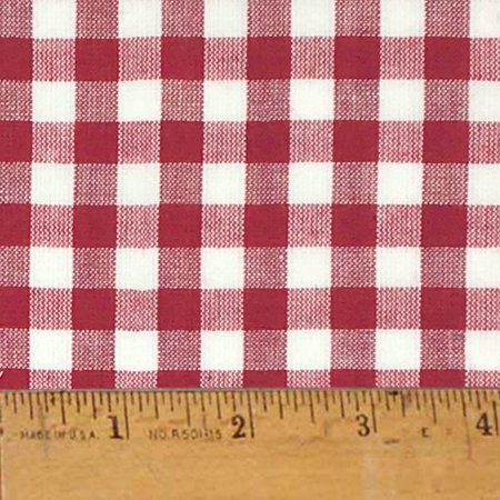 Liberty Red 5 Plaid Christmas Homespun Cotton Fabric Sold by the Yard - JCS Fabric