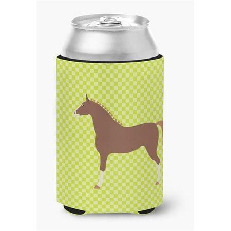 Hannoverian Horse Blue Check Can or Bottle Hugger - image 1 de 1
