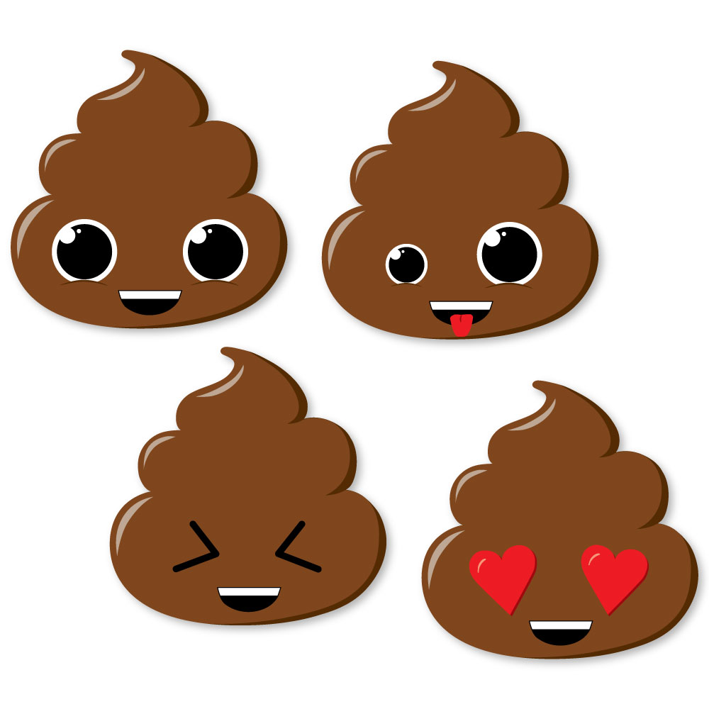 Party Til You Re Pooped Diy Shaped Poop Emoji Party Cut Outs 24