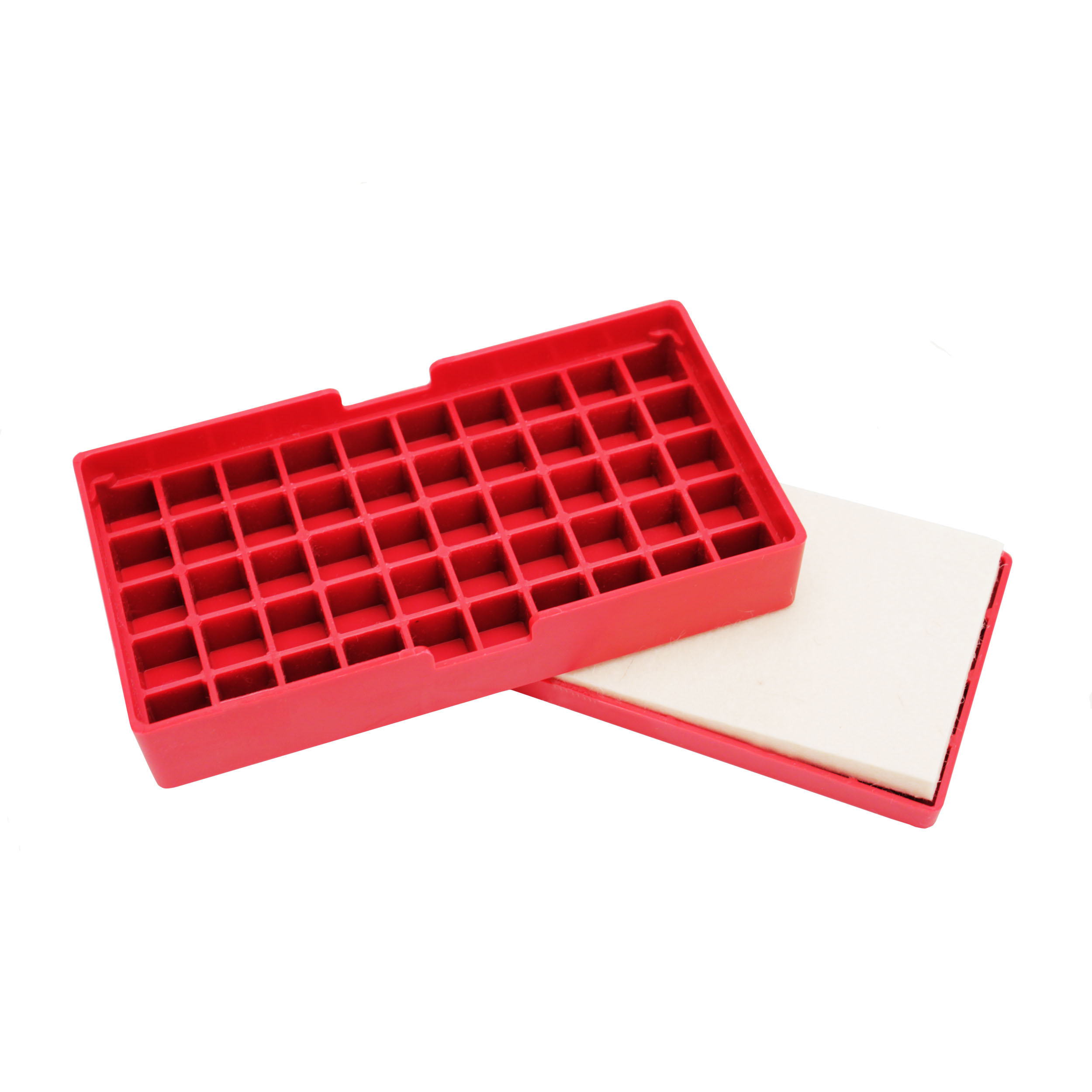 Hornady Case Lube Pad and Reloading Tray, Holds 50 Cases, Red