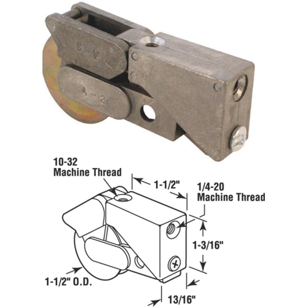 Steel Patio Door Roller with Housing Assembly