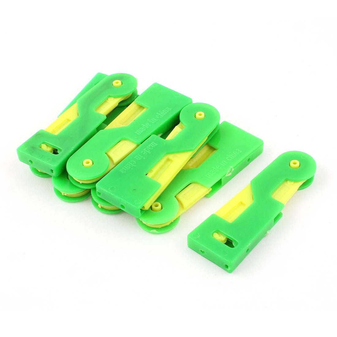 Elder Stitch Sew Hem Automatic Needle Threader Thread Guide Green Yellow 8pcs