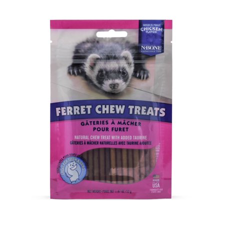 N-Bone Ferret Chew Treat, Chicken Flavor, 6-Count, Effectively aid in removing tartar and keeping the teeth and gums healthy By HDP