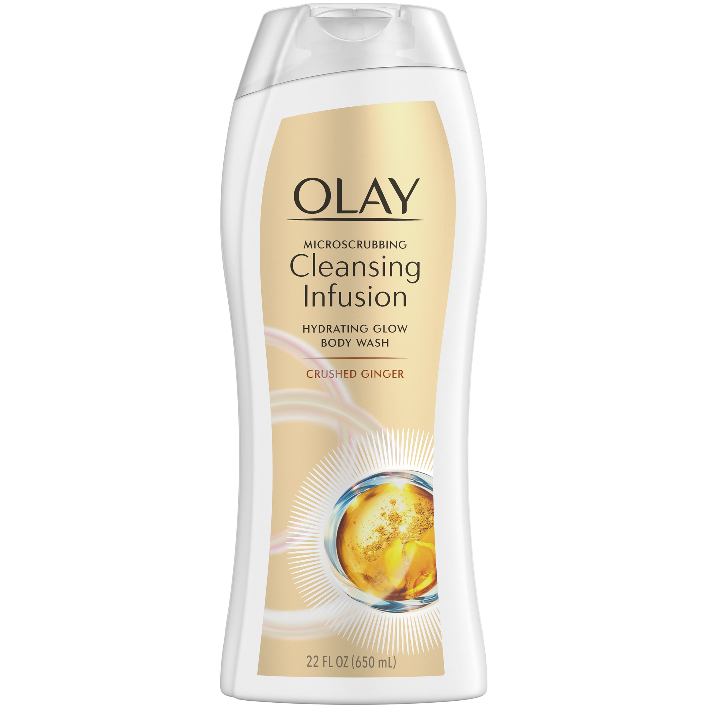 Olay Microscrubbing Cleansing Infusion Crushed Ginger Body Wash, 22 oz