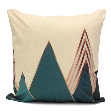 Meigar Blue Deer Simple Style Couch Cushion Pillow Covers 18x18 Square Zippered Cotton Linen Standard Decorative Throw Pillow Covers Slip Case Protector for Sofa Chair Seat  Patio, - image 5 of 5