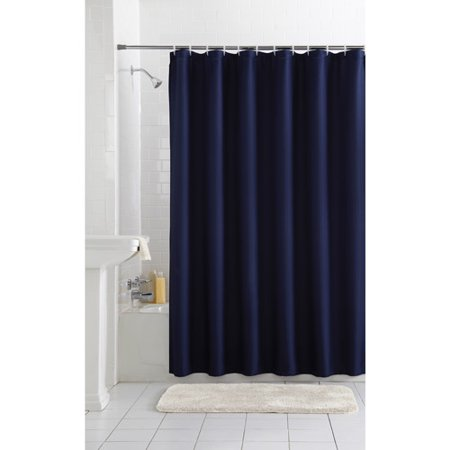 Curtains Ideas black cloth shower curtain : Mainstays Waffle Fabric Shower Curtain Collection - Walmart.com
