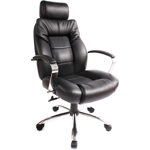 Commodore II Oversize Leather Executive Chair, Black