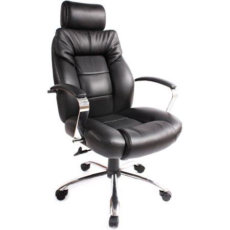 Commodore Big & Tall Leather Executive Chair Black - Onespace