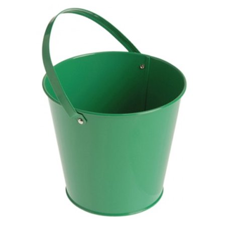 Metal Bucket - Green (6) - Personalized Halloween Buckets