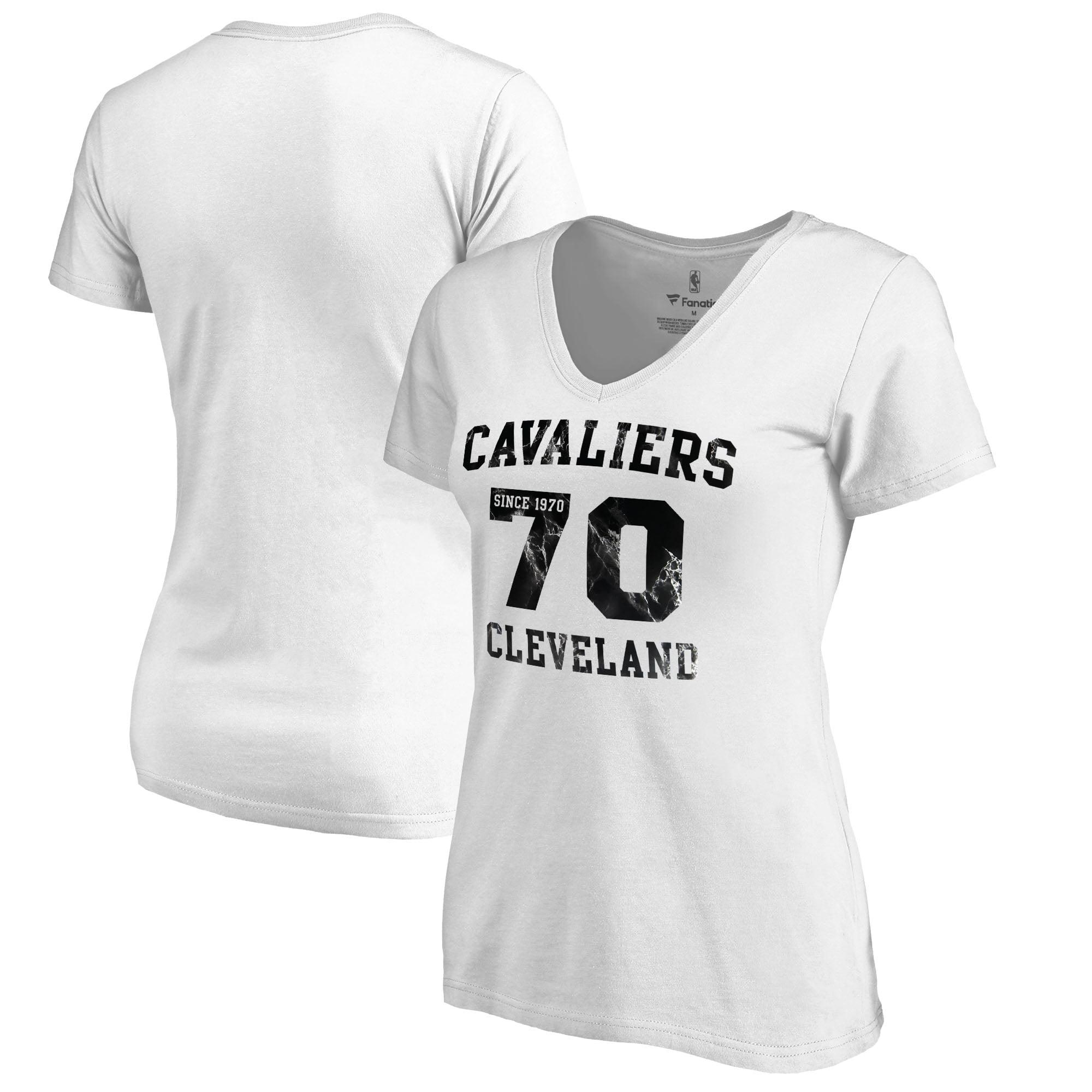 Cleveland Cavaliers Fanatics Branded Women's Hang Time Plus Size V-Neck T-Shirt - White