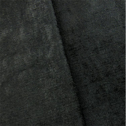 Golding Jet Black Empire Faux Velvet Home Decorating Fabric, Fabric By the Yard