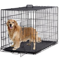 "BestPet Double-Door Metal Dog Crate with Divider and Tray, X-Large, 48""L"