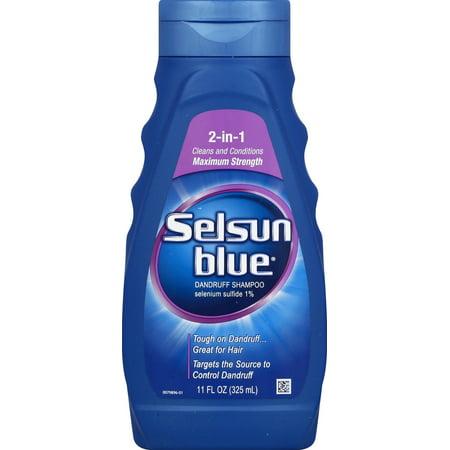 - Selsun Blue 2-In-1 Maximum Strength Dandruff Shampoo, 11 Fl Oz