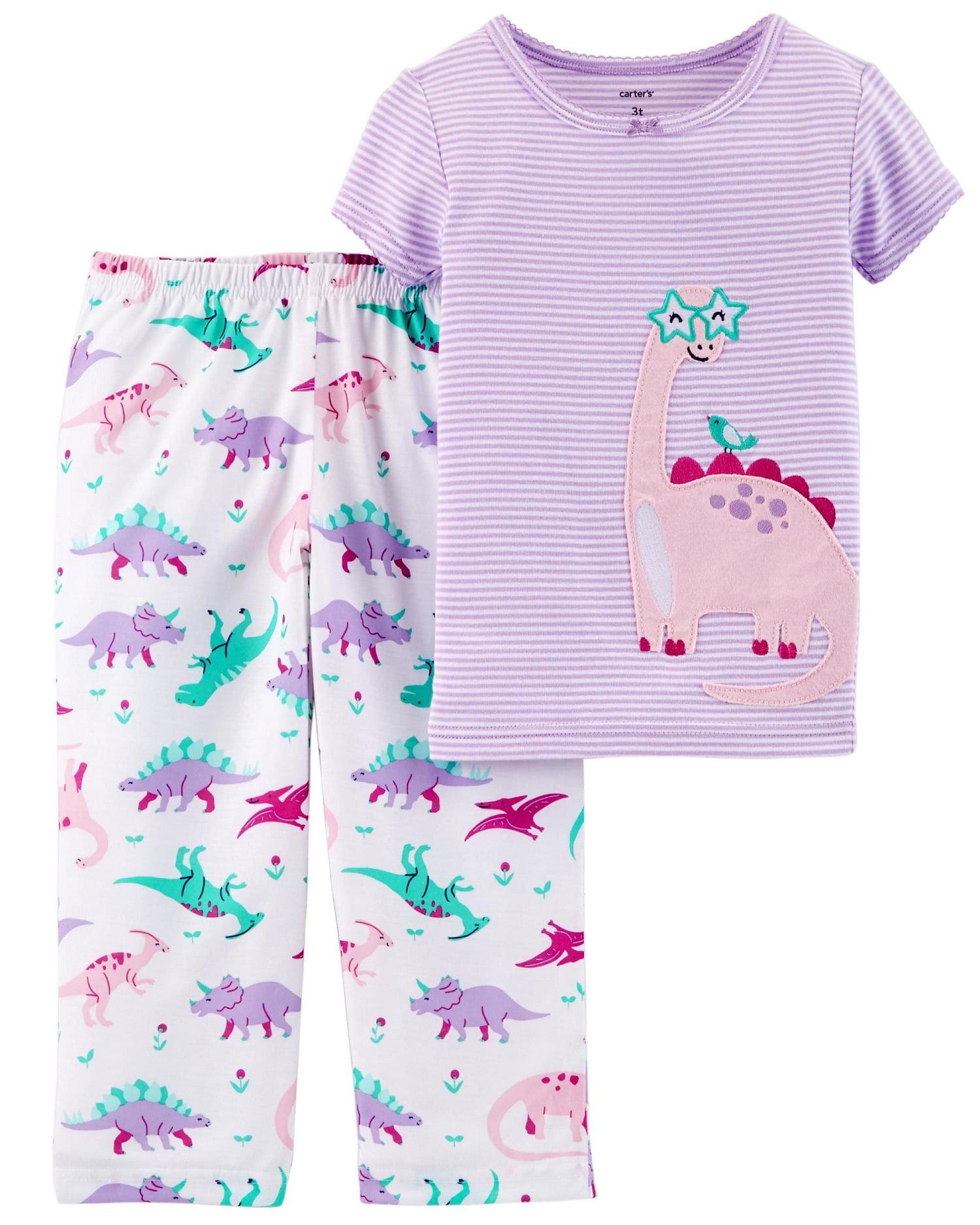 Cotton Juice girls/' dinosaur pyjamas A28837678