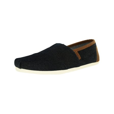 Toms Men's Classic Denim Dark Ankle-High Canvas Slip-On Shoes -