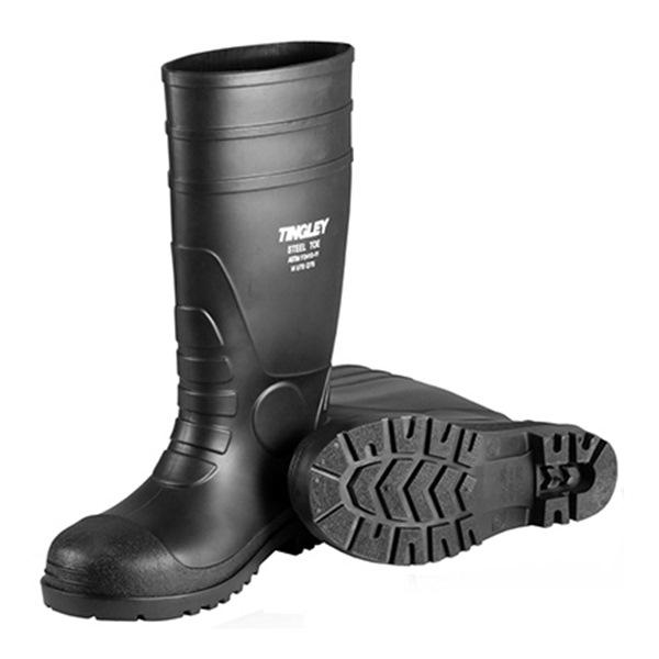 Sz 14 Blk Pvc Sock Boot