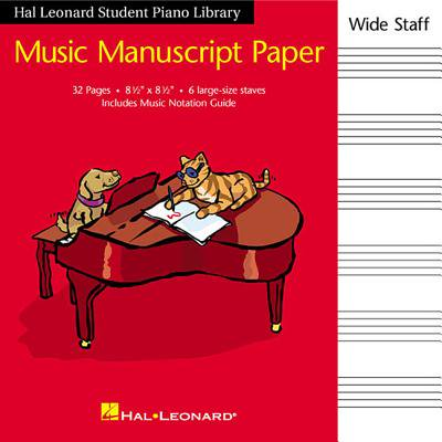 Hal Leonard Student Piano Library Music Manuscript Paper - Wide Staff : Wide Staff - Halloween Music For Students