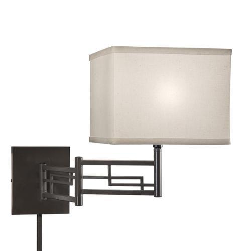 Aztec Lighting Transitional 1-light Bronze Swing Arm Pin-up Plug-in Wall Lamp