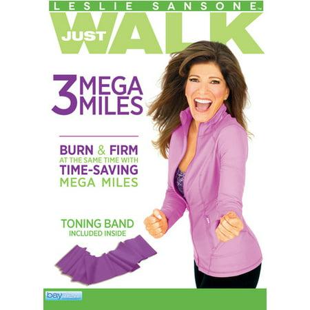 Leslie Sansone: 3 Mega Miles (Includes Free Toning Band) (DVD)