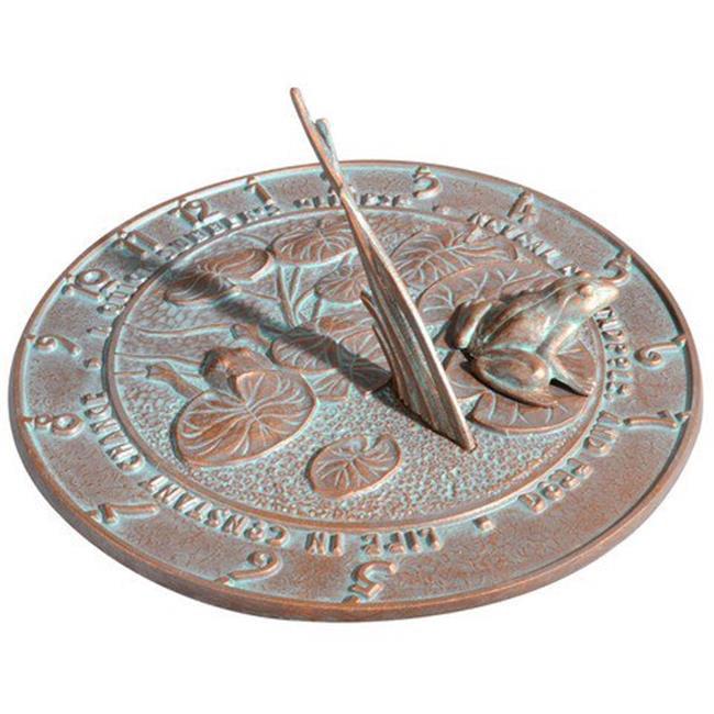 Frog Sundial - Copper Verdi