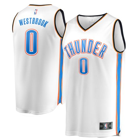 Russell Westbrook Oklahoma City Thunder Fanatics Branded Youth Fast Break Replica Jersey White - Association Edition Brewers Youth Replica Jersey