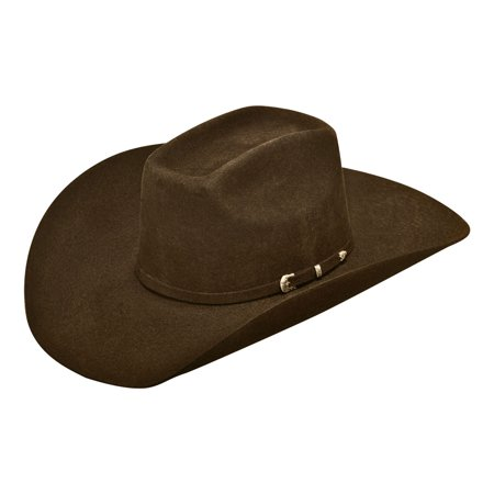 Ariat Men's Wool 3 Piece Buckle Hat Chocolate 7