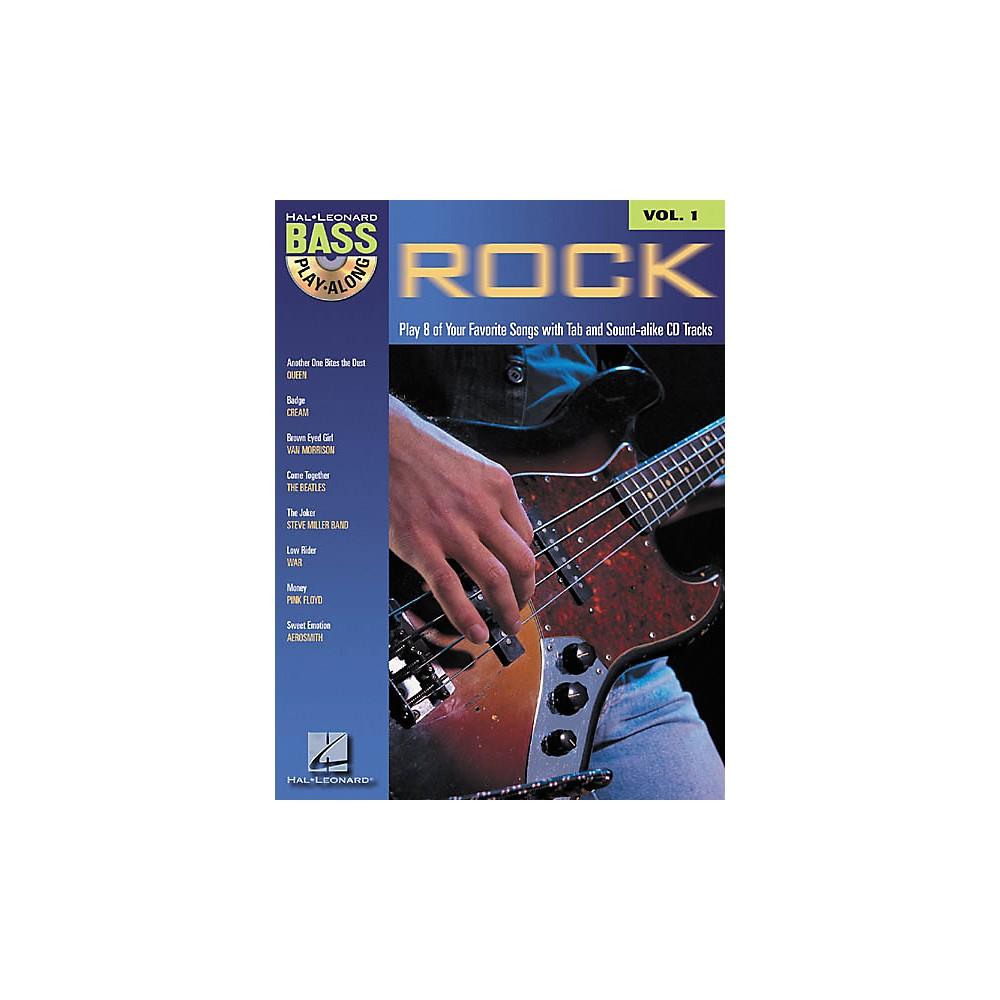 Hal Leonard Rock Bass Play Along Volume 1 Book and CD