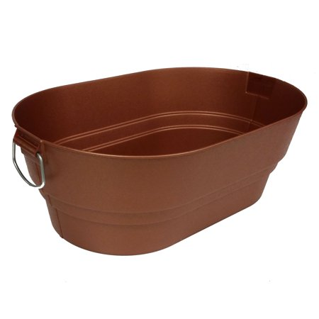 Contico 20915CP-6 Bronze Finish Faux Galvanized Nesting Storage Tub, 9 Quarts](Galvanized Tubs)