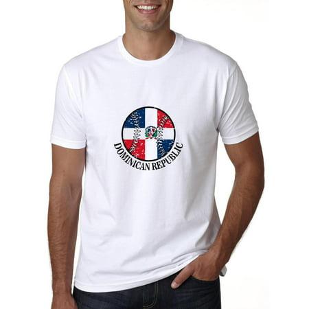 Dominican Republic Baseball Classic - World Vintage with Flag Men's (Dominican Republic Flag T-shirt)