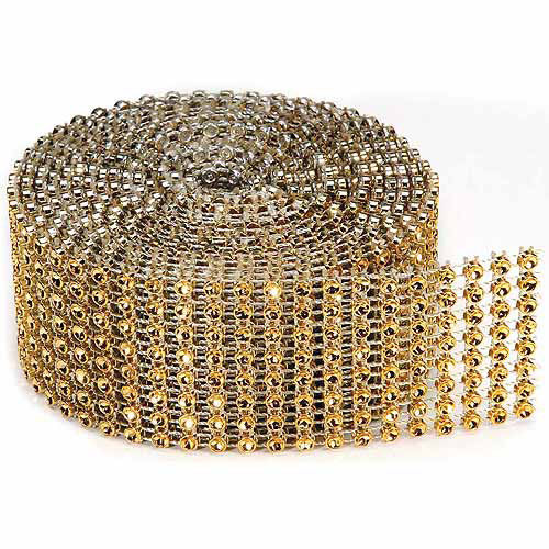 Darice Bling On A Roll, 3mm x 2yds, Gold
