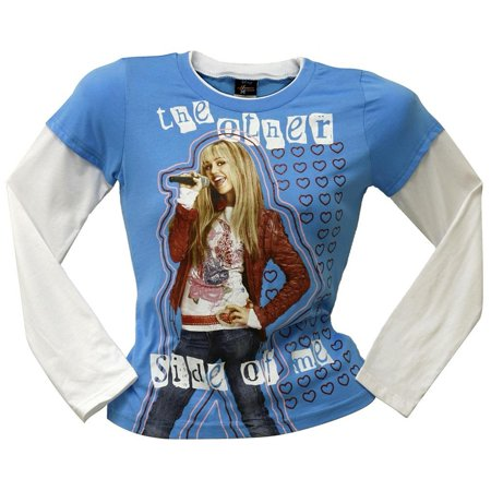 Hannah Montana - Otherside Girls Youth 2fer Long Sleeve T-Shirt - X-Large Hannah Montana Clothes