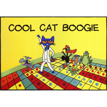 Pete The Cat Cool Cat Boogie Kids Area Rug