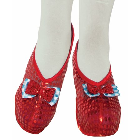 Dorothy Red Sequin Costume Shoe Covers