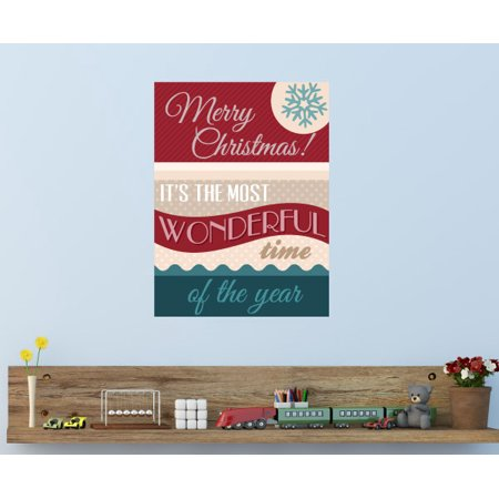 Its the most wonderful time of the year quote wall decal vinyl