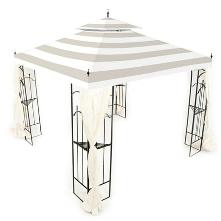 Garden Winds Replacement Canopy Top Cover for the Arrow Gazebo -Standard 350 - Cabana Beige ()