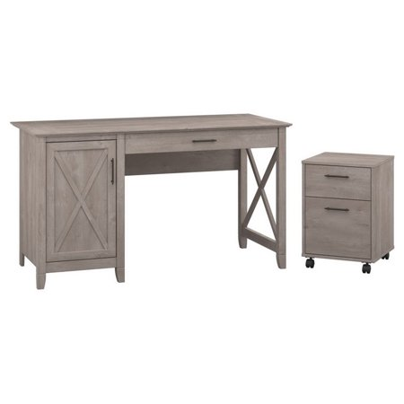Bush Key West 2 Piece Office Set in Washed