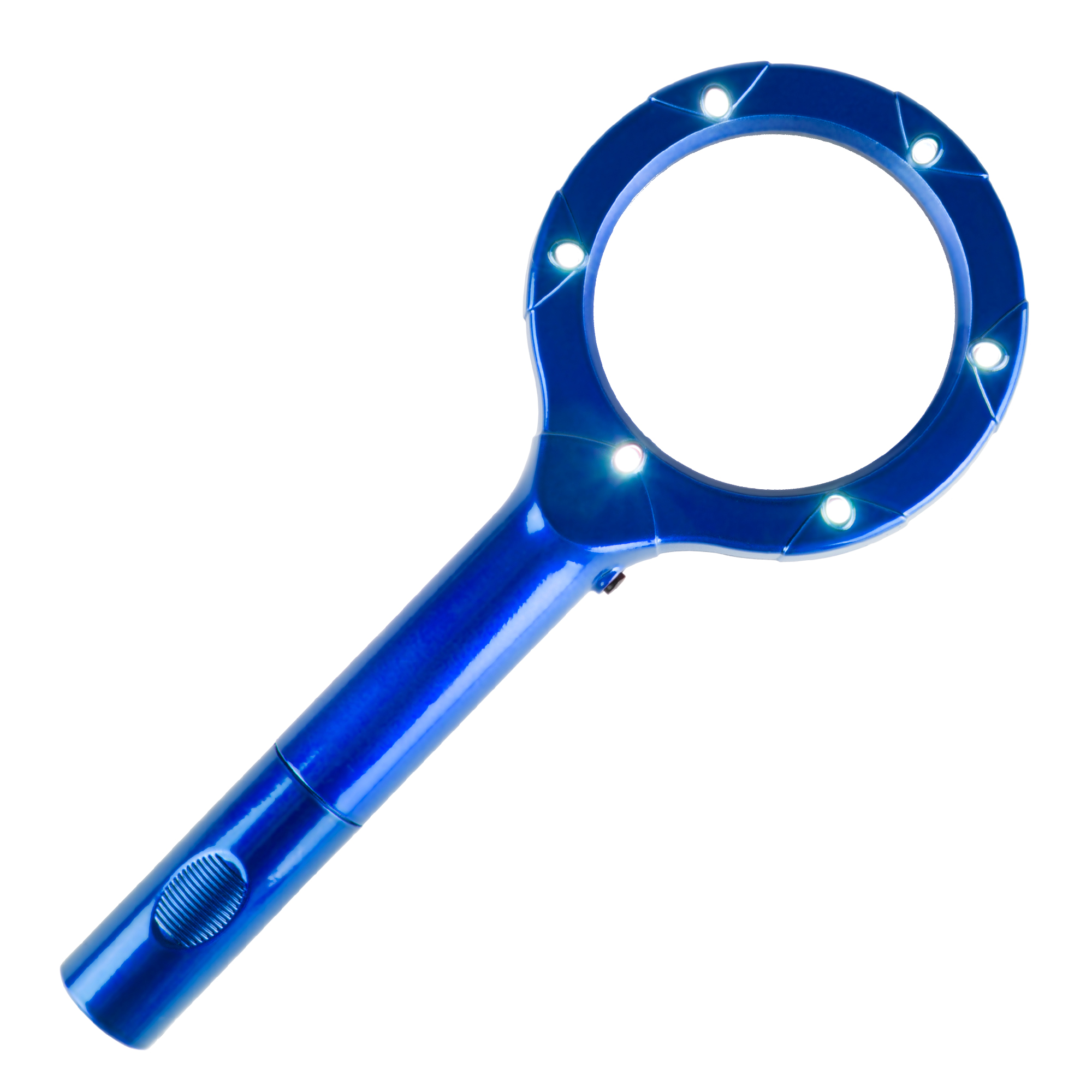 Magnifying Glass with LED Light, Lightweight Handheld Lighted 4x Magnifier by Stalwart