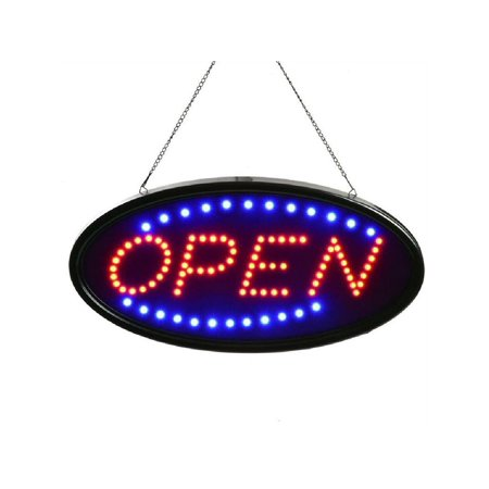 Animated LED Neon Light Shop Business Open Signs Oval