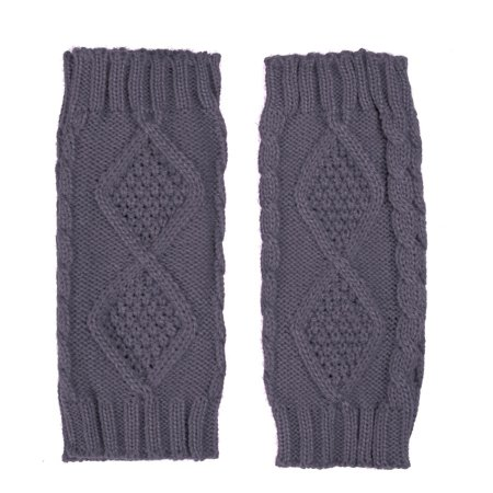 HDE Women's Fingerless Gloves Crochet Cable Knit Wrist, Hand, and Arm Warmers - image 3 de 5