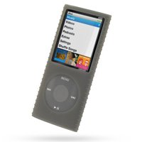 Premium Smoke Silicone Skin Case (Super Grip Silicone Skin Case for 4th Generation iPod Nano)