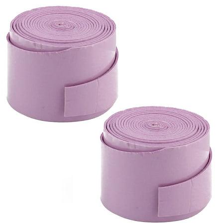 Badminton Foam Racket Handle Sweat Absorbing Wrap Grip Tape Light Purple 2 Pcs
