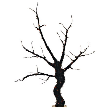 Halloween Displays For Sale (Queens of Christmas 6' Base Lit Halloween Tree Decoration Lighted)