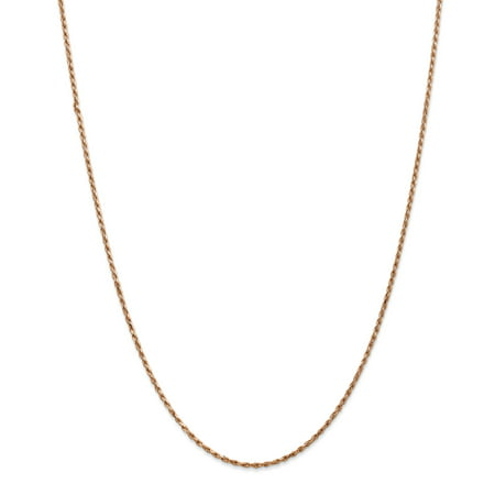 14K Rose Gold 1.8mm Diamond Cut Rope Chain 24 Inch - image 5 of 5