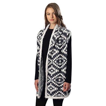 32c7f9959800 Sassy - Sassy Scarves Womens Aztec Pattern Kimono Sweater Top (Navy) -  Walmart.com