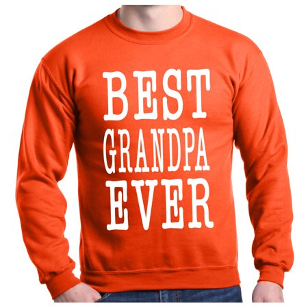Grandpa Sweatshirt (Shop4Ever Men's Best Grandpa Ever Father's Day Grandparent Crewneck Sweatshirt)
