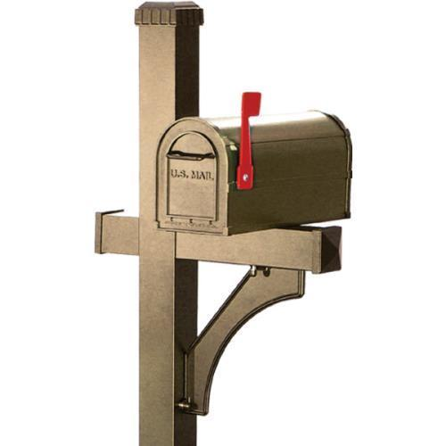 1 Sided Deluxe Post 1 Community Mailbox, Beige