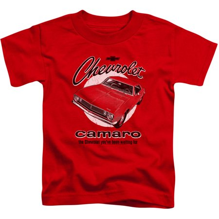 Chevy Boys' Retro Camaro Childrens T-shirt Red - Boys Retro
