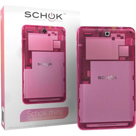 Schok Mini Tablet - 2GB Ultra Fast DDR3 RAM - 16 Gb Memory - HD 1280 x 800  Pixels IPS Display - 7 Inch, Pink