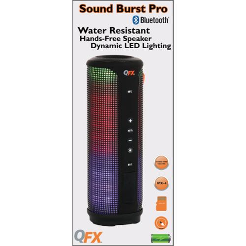 Qfx Sound Burst Pro Bt-300 Speaker System - Portable - Battery Rechargeable - Wireless Speaker[s] - Microsd - Bluetooth - Usb - No - Built-in Microphone, Water Resistant, Wireless Audio (bt-300_2)